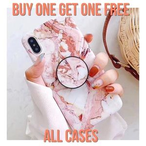 Accessories - iPhone X/XS/XR/7+/8+/7/8 Marble Popsocket Case